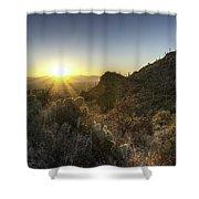 Winter Sunset Shower Curtain by Lynn Geoffroy