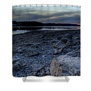 Winter Sunset On The Lake Shower Curtain