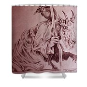 Wise Old Goat Shower Curtain