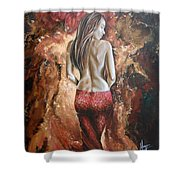 Woman's Portrait Shower Curtain