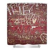 Wood Graffiti Shower Curtain