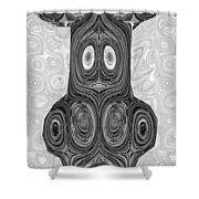 Woodcraft Ghosts Spirits Indian Native Aboriginal Masks Motif Symbol Emblem Ethnic Rituals Display H Shower Curtain