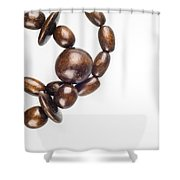 Wooden Beads Necklace Shower Curtain