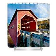 Wooden Covered Bridge  Shower Curtain