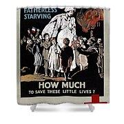 World War I: Red Cross Shower Curtain