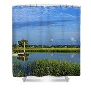 Wrightsville Beach Marsh Shower Curtain