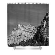 Wyoming Mountain Peaks Shower Curtain