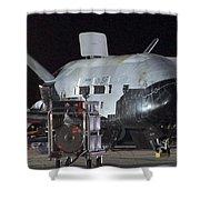 X-37b Orbital Test Vehicle, Post-landing Shower Curtain