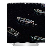 Yachts At Rest Sorrento Shower Curtain