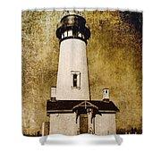 Yaquina Head Lighthouse - Oregon Shower Curtain