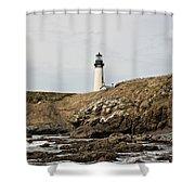 Yaquina Head Lighthouse - Pov 1 Shower Curtain