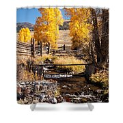 Yellowstone Institute In Lamar Valley In Yellowstone National Park Shower Curtain
