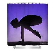 Yoga Crane Pose Shower Curtain