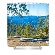 Yosemite Valley Mountainside From Sentinel Dome Trail In Yosemite Np-ca Shower Curtain