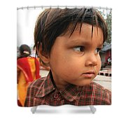 Young Boy Orchha  Shower Curtain
