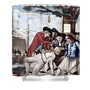 Boston Tea Party, 1773 Shower Curtain