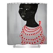 Dinka Bride - South Sudan Shower Curtain