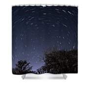 20 Minutes Of Star Movement Shower Curtain