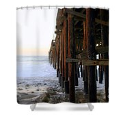 Ocean Wave Storm Pier Shower Curtain