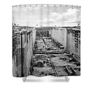 Panama Canal, C1910 Shower Curtain