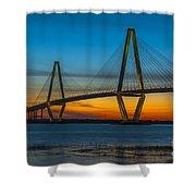 Arthur Ravenel Jr. Bridge At Sunset Shower Curtain