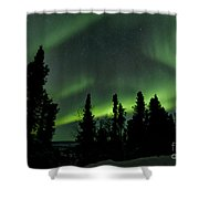 The Aurora Borealis Shower Curtain