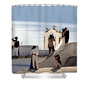 The Shoot On Santorini In Greece Shower Curtain