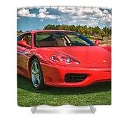 2001 Ferrari 360 Modena Shower Curtain