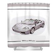 Ferrari 360 Modena Spyder Shower Curtain