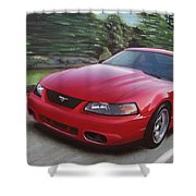 2001 Ford Mustang Cobra Shower Curtain