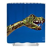 2015 Rose Parade Float Showing A Dragon 15rp040 Shower Curtain