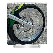 2004 Hell Bound Steel Motorcycle Shower Curtain