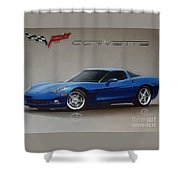 2005 Corvette Shower Curtain
