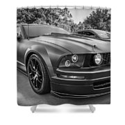 2005 Ford Mustang Convertible Bw  Shower Curtain