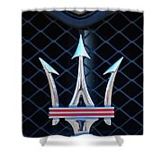 2005 Maserati Gt Coupe Corsa Emblem Shower Curtain