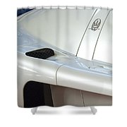 2005 Maserati Mc12 Emblem Shower Curtain