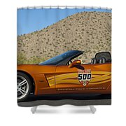 2007 Chevrolet Corvette Indy Pace Car Shower Curtain by Jill Reger