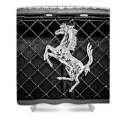 2007 Ferrari F430 Spider F1 Emblem -588bw Shower Curtain