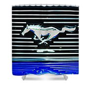 2007 Ford Mustang Grille Emblem Shower Curtain