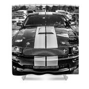 2007 Ford Mustang Shelby Gt500 Painted Bw  Shower Curtain