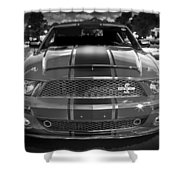 2007 Ford Mustang Shelbygt 500 427 Bw Shower Curtain