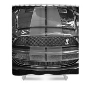 2007 Ford Shelby Gt 500 Mustang Bw Shower Curtain
