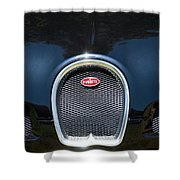 2008 Bugatti Veyron Grille Emblem -1288c Shower Curtain