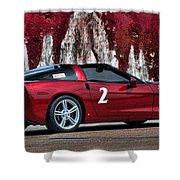 2008 Corvette Shower Curtain