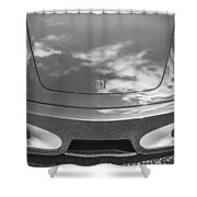 2008 Ferrari F430 Bw Shower Curtain