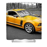 2008 Ford Mustang Rausch Supercharged Shower Curtain