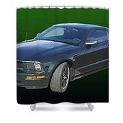 2008 Mustang Bullitt Shower Curtain