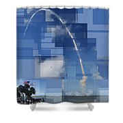 2008 Space Shuttle Launch Shower Curtain
