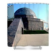 2009 Adler Planetarium With Glass Sky Pavilion II Chicago Il Usa Shower Curtain