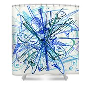 2010 Abstract Drawing 21 Shower Curtain